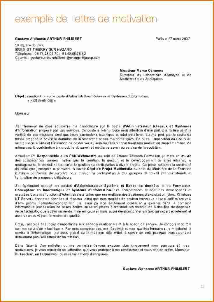 cv et lettre motivation alternance bachelor ressources humaines