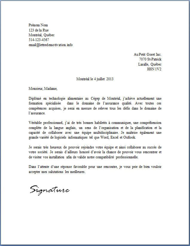 lettre de cv pour laveur de vitre