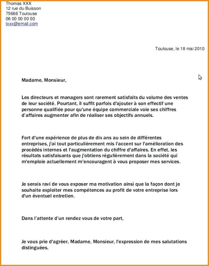 image exemple lettre de motivation demande demploi spontanee modele cv