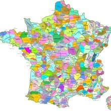 Une carte des régions naturelles de France