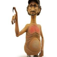 Des statues caricaturent des réalisateurs en les mélangeants avec leurs personnages
