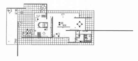 mies van der rohe, pianta della casa modello per la mostra delle - Design Of Retaining Walls Examples