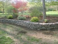 Natural Rock Retaining Wall and Flower Beds  Salem, NH ...