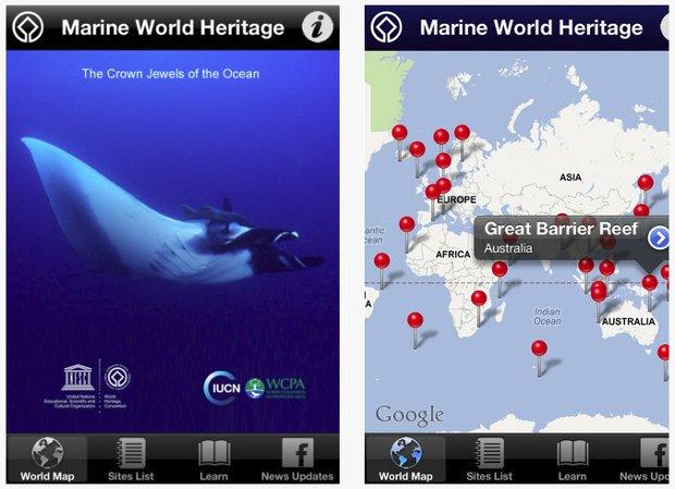 Nueva aplicación App UNESCO Patrimonio Marino Humanidad