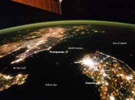 La NASA muestra la verdadera oscuridad de Corea del Norte