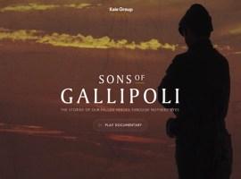 Sons of Gallipoli: La Batalla de Gallipoli en un documental interactivo