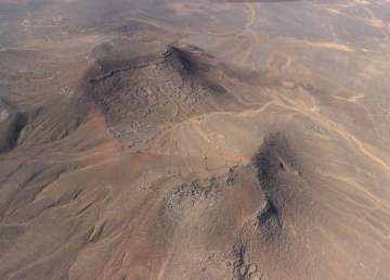 Vista aérea de Tulul al-Ghusayn