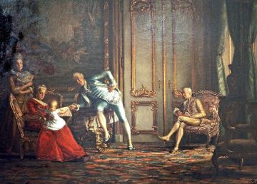 Los reyes con Struensee (Kristian Zahrtmannn). Wikimedia