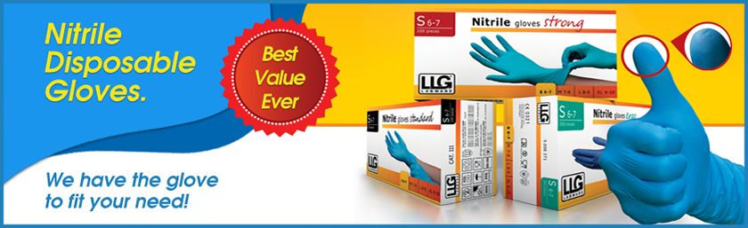 Nitrile Gloves Disposable Hand Glove Blue Examination Powder Free