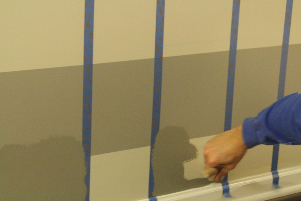 Buffalo check wall lacey placey for Painting lines on walls