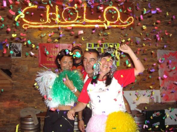 Elisa y Juancho, con Marta
