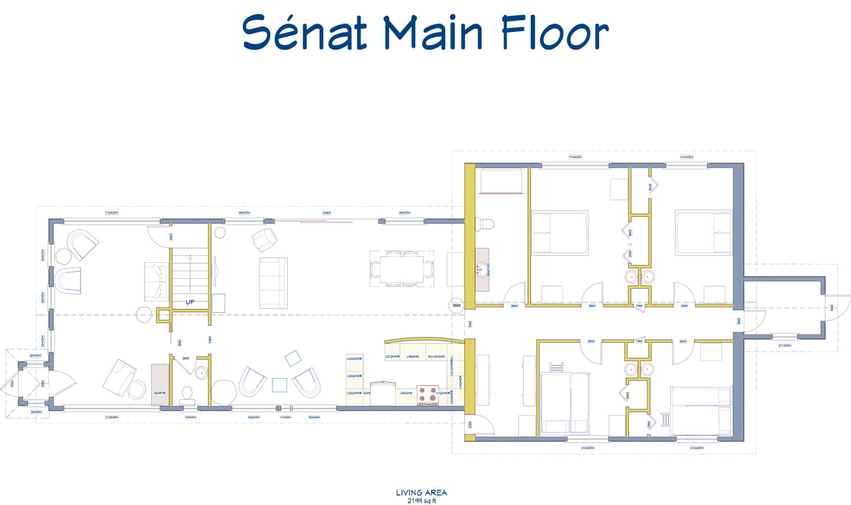 Senat main floor plan