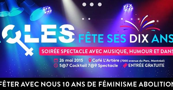 Communiqué : La CLES célèbre aujourd'hui 10 ans de luttes féministes abolitionnistes