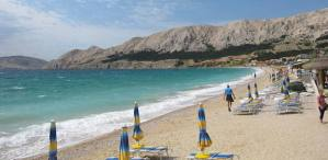 pláž baška ostrov krk