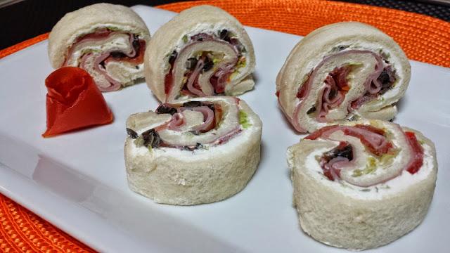 rollito con pan de molde