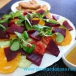 Ensalada de remolacha y naranja