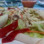 Ensalada de pollo con vinagreta de mostaza