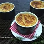 Suflé de jamón y puerros