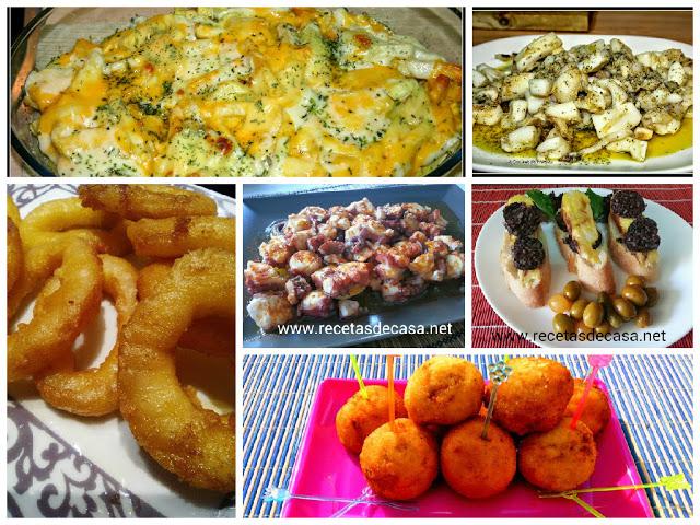recetas cena de tapas tradicionales cocina facil