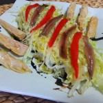 Ensalada de bonito, patata y anchoas