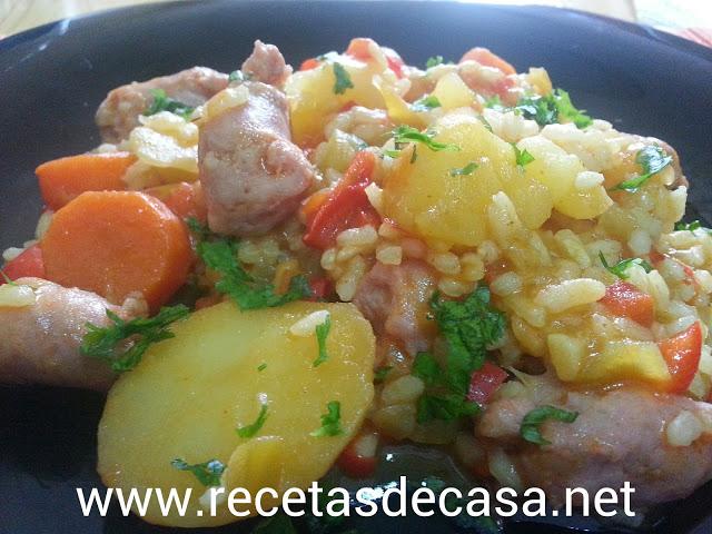 Patatas guisadas con arroz cocina facil
