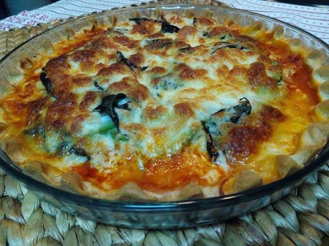 Pizza de pollo y aguacate cocina facil