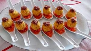 bombones de queso roquefort