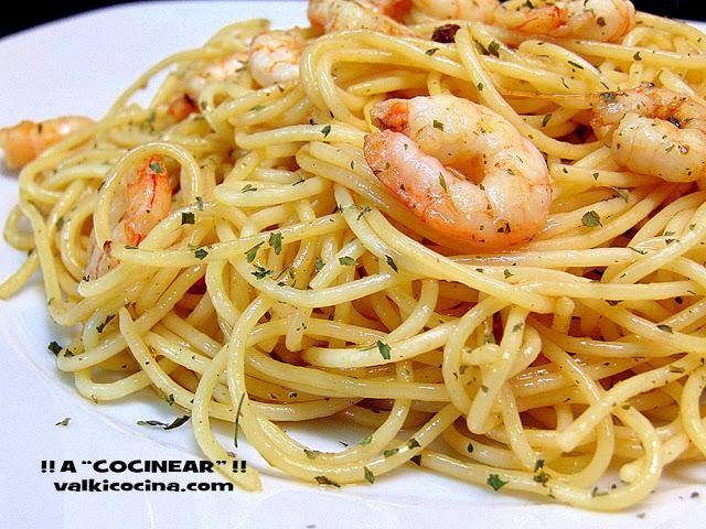 espaguetis-con-gambas-al-ajillo 5