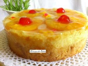 pastel de pan duro y melocotón. El toque de Belén
