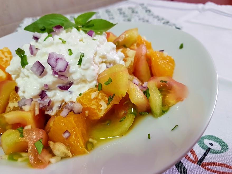 Ensalada de tomate y naranja la cocina de pedro y yolanda for La cocina de pedro y yolanda