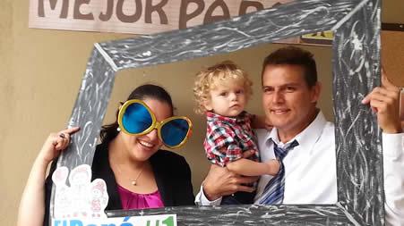 Familia Pastoral: Pastora Sonia, Leonardo y Pastor Hannio