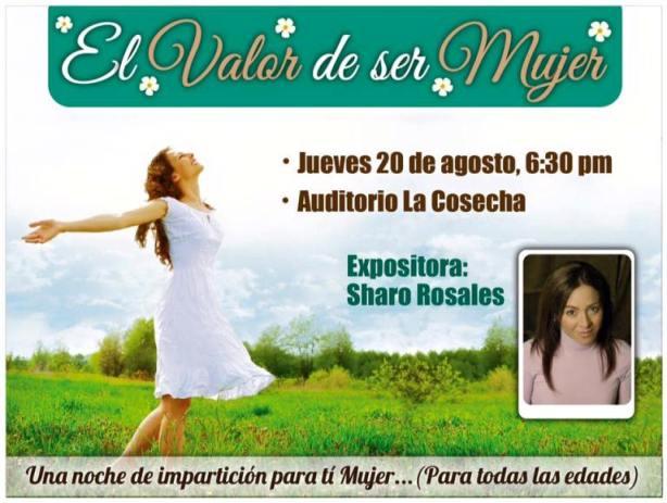 El Valor de Ser Mujer - Jueves 20 Agosto - 6:30 PM