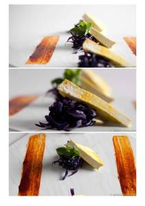 Tofu alla piasta con Tamari e cavolo viola