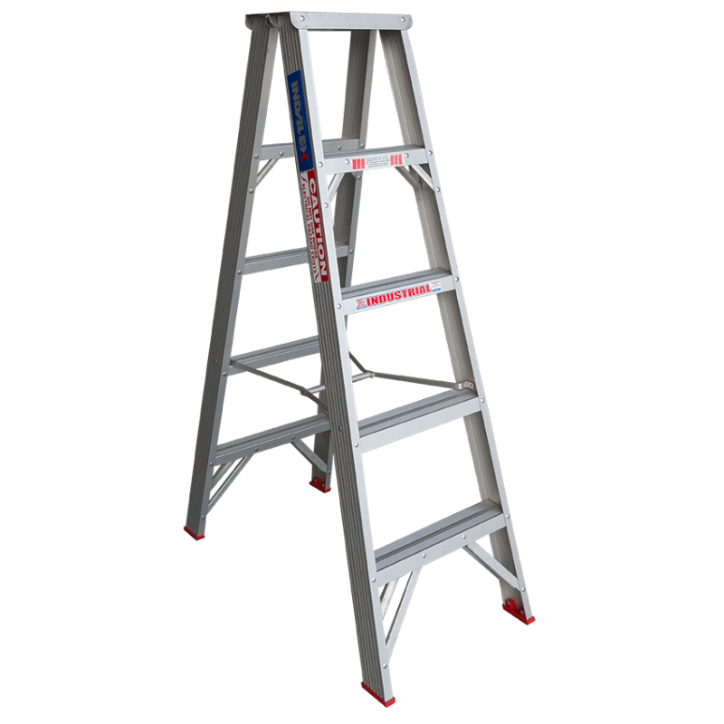 Indalex Tradesman Aluminium Double Sided Step Ladder 5ft 1