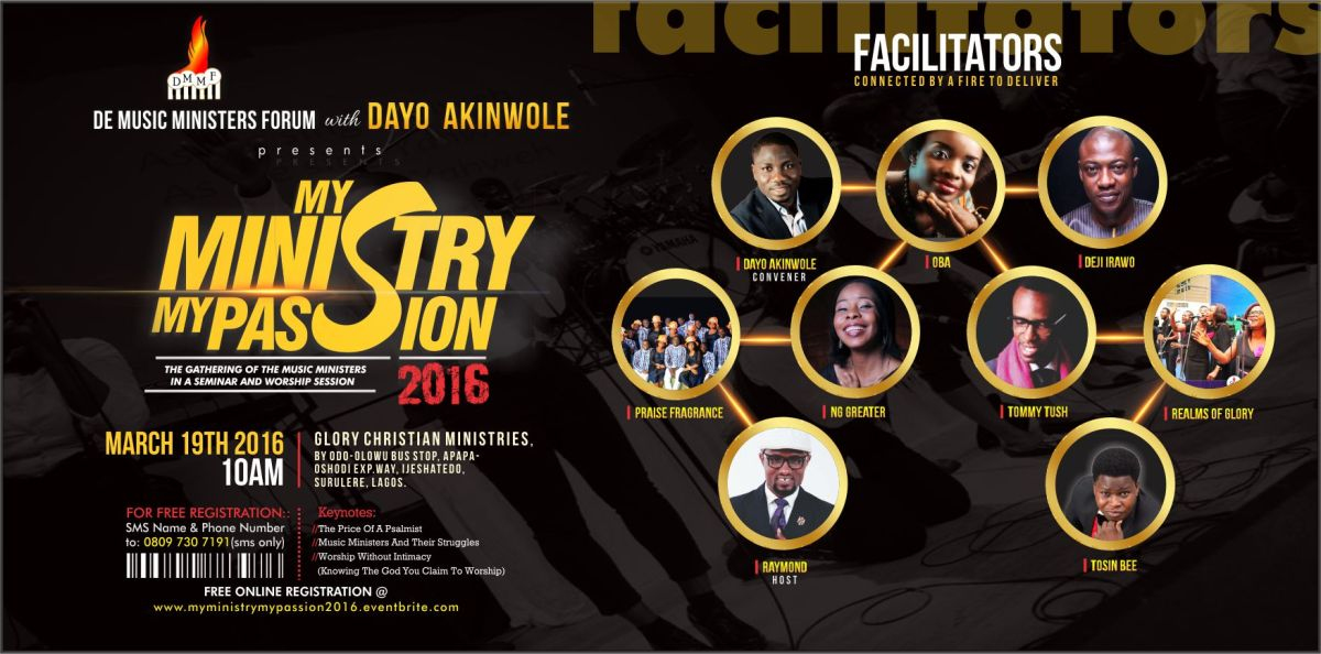 MY MINISTRY MY PASSION 2016