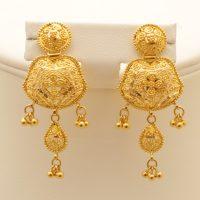 Gold heavy earrings sets - Fashion Beauty Mehndi Jewellery ...