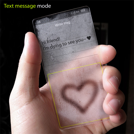 Completely Transparent Cell Phone Concept Designed by Seunghan Song (6)