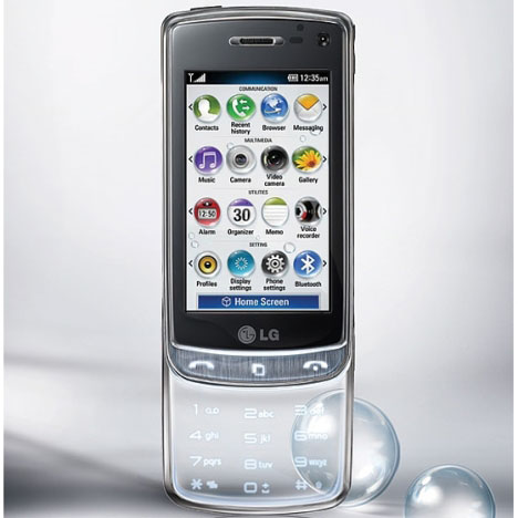Completely Transparent Cell Phone Concept Designed by Seunghan Song lg gd900