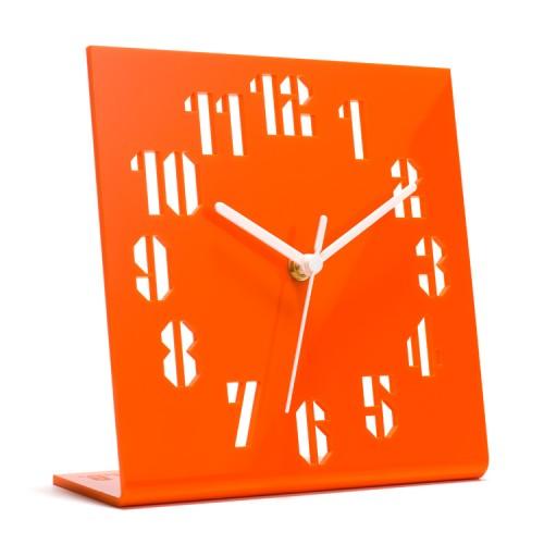 Orange Clock Designed by Anthony Burrill