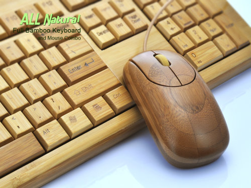 Bamboo Keyboard Mouse Combo