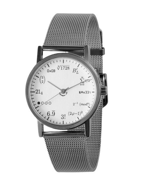 Geek Watch Displays Time Using Math Formulas