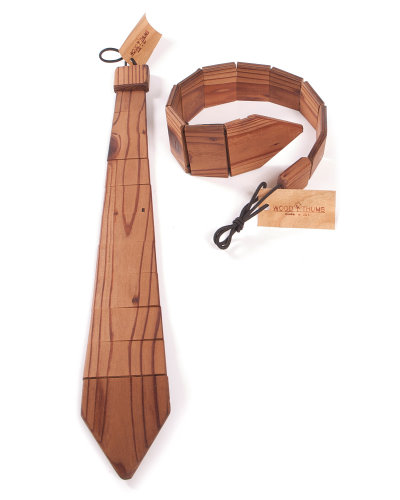 Wood Tie Made From Redwood Beams