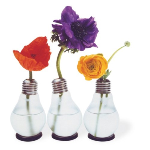 Decorative Vases Made From Light Bulbs