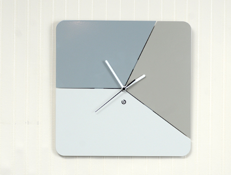Designer Wall Clock in Natural Colors
