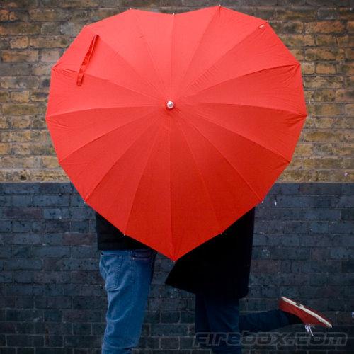 heart shaped umbrella