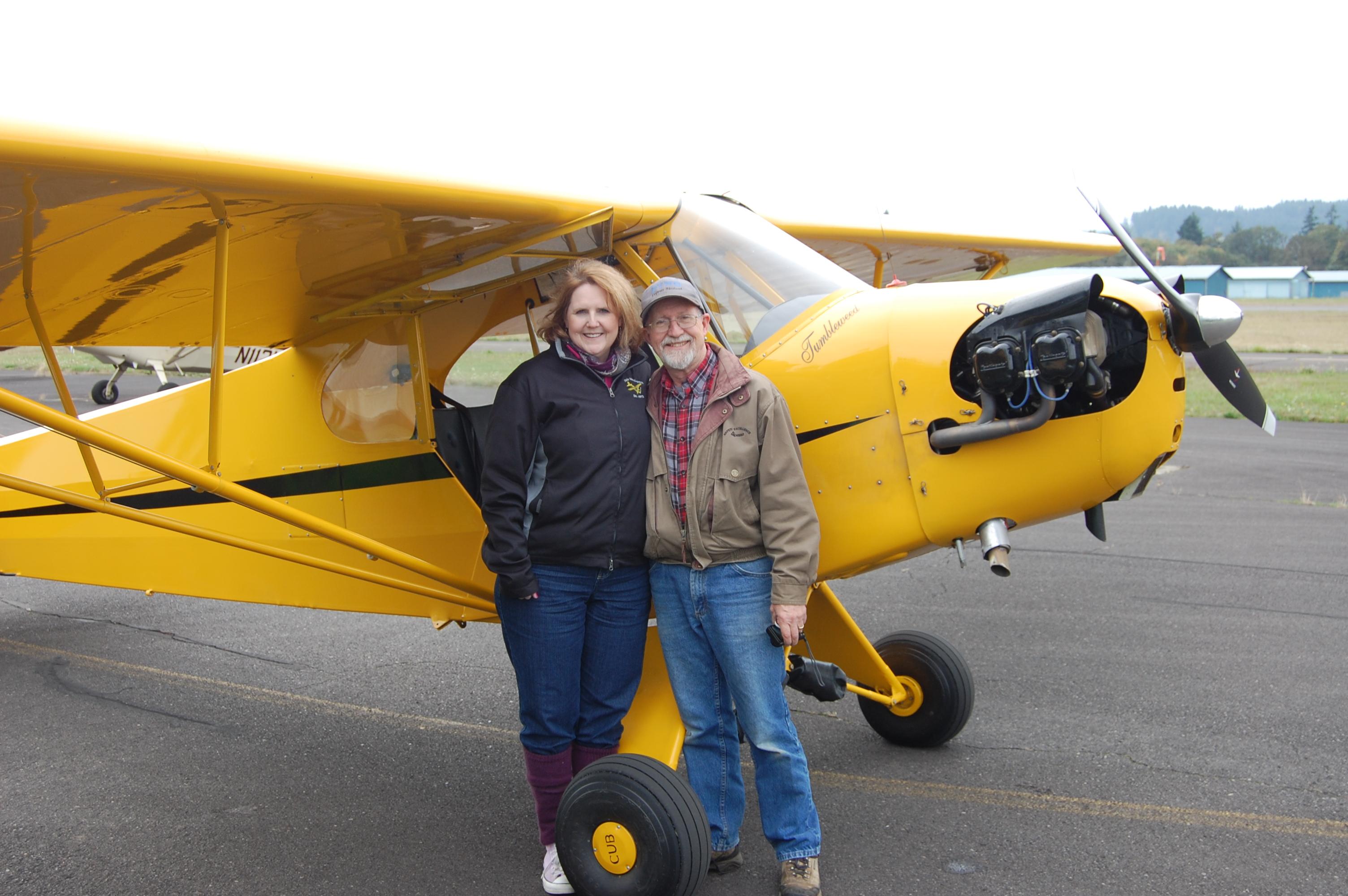 Vanessa Jump Nelson and her J3 flight!