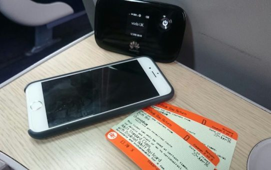 Cellhire MiFi on train