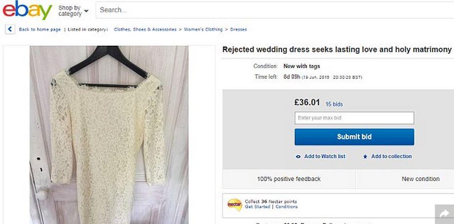 Abito da sposa su ebay: l'annuncio in prima persona...del vestito