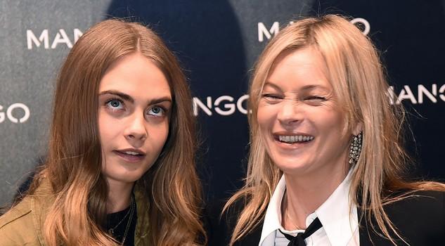 Kate Moss e Cara Delevingne da Mango a Milano FOTO
