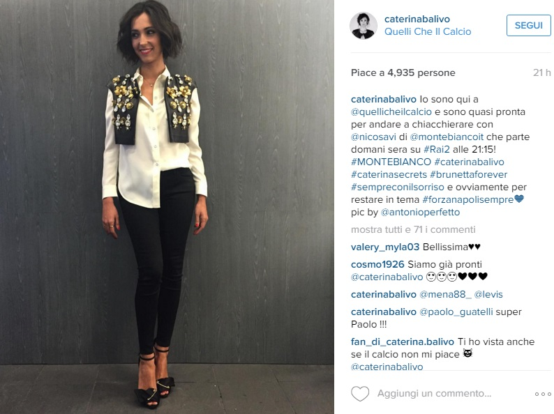 Caterina Balivo in Black and White aspettando Monte Bianco FOTO